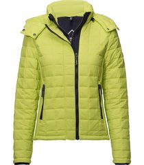 hooded box quilt fuji jacket doorgestikte jas geel superdry