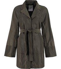 add nylon trench coat