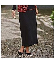 rayon knit skirt, 'timeless black' (india)