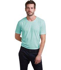 t shirt buckman 1/2 malha gola careca - verde agua