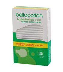 hastes flexíveis bellacotton 150 unidades