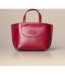 tods tote bags tods mini shopping bag in leather with shoulder strap
