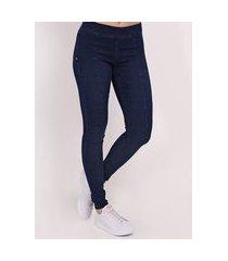 calça jeans jegging feminina azul