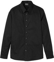 camicia a maniche lunghe con bottoni a forma di teschio slim fit (nero) - rainbow