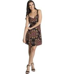 vestido viscose floral handbook