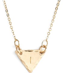 nashelle 14k-gold fill initial triangle necklace in 14k gold fill i at nordstrom