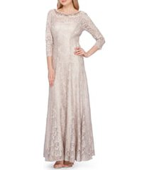 women's tahari embellished lace gown