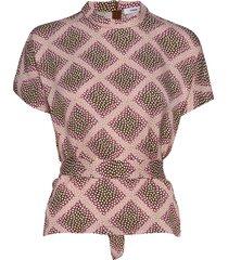 blumea blouse ss aop 8325 blouses short-sleeved roze samsøe samsøe