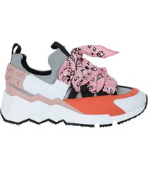 multicolor pink bandana sneakers
