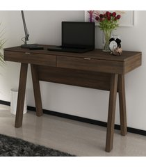 mesa escrivaninha 2 gavetas rústico me4128 - tecno mobili