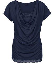 maglia con pizzo (blu) - bodyflirt
