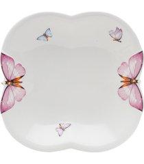 conjunto 6 pratos de porcelana para sopa wolff – linha borboletas - pronta entrega