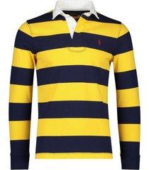 ralph lauren rugby trui big & tall navy geel