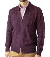 sweater full zipper jacquard mcgregor