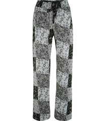 pantaloni di jersey in mix di fantasie (nero) - bpc bonprix collection
