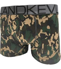 cueca boxer kevland camuflado verde militar - kanui