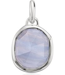 sterling silver siren medium bezel pendant charm blue lace agate