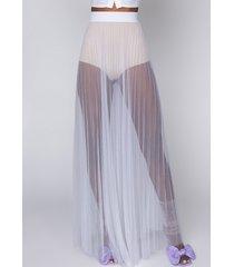 akira underneath it all sheer mesh maxi skirt
