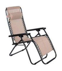cadeira espreguiçadeira pelegrin gravidade zero em tela mesh