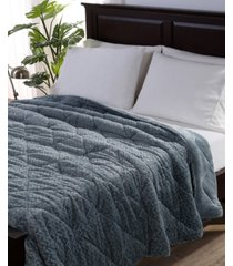 berkshire blanket & home co. large braid velvetloft full/queen comforter bedding