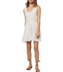 women's o'neill linnet sleeveless cover-up minidress, size small - white