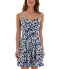 bcx juniors' strappy-back fit & flare dress