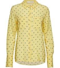 lila shirt overhemd met lange mouwen geel pieszak
