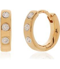 monica vinader fiji diamond huggie hoop earrings in yellow gold at nordstrom