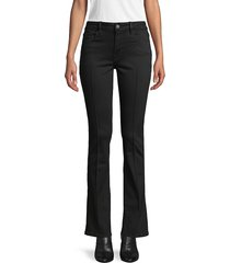 frame denim women's wide-leg ankle jeans - noir - size 23 (00)