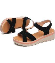 las mujeres casuales sandalias planas con suela gruesa tacón cuña todos coincide con zapatos de verano