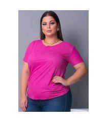 blusa camiseta t-shirt tecido sued urbania suede rosa pink