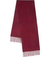 boxed fringed cashmere scarf