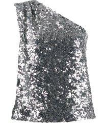 one-shoulder sequin top