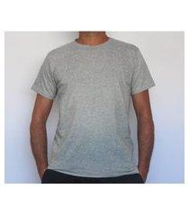 camiseta básica algodão cinza t-shirt mescla respirável e funcional