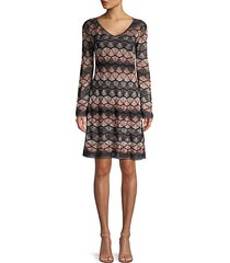 lurex zigzag crochet dress
