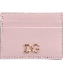 dolce & gabbana dolce & gabbana pink card holder