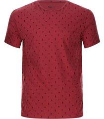 camiseta hombre piñas color café, talla l