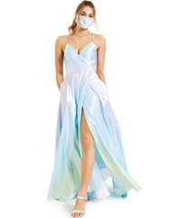 blondie nites juniors' ombre satin gown