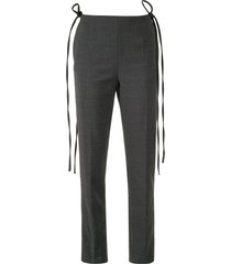 mm6 maison margiela tie-side tailored trousers - grey