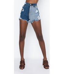 akira love you to pieces denim shorts