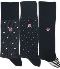 love sock company men's luxury dress socks bundle, pack of 3