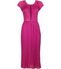 knee-length pleated dress