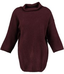 garcia bordeaux loose fit trui 3/4 mouw