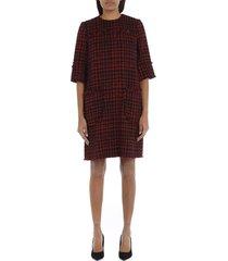 short tweed a-line dress