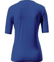 shirt met ronde hals en korte mouwen van peter hahn blauw