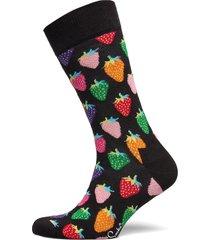strawberry sock underwear socks regular socks svart happy socks