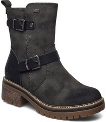 96274-45 shoes boots ankle boots ankle boot - flat grå rieker