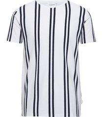striped piqué tee s/s t-shirts short-sleeved vit lindbergh