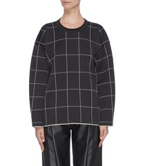 window pane check sweatshirt