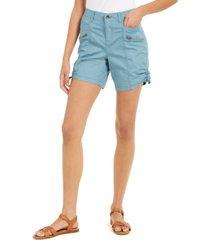 style & co zip-pocket cargo shorts, created for macy's